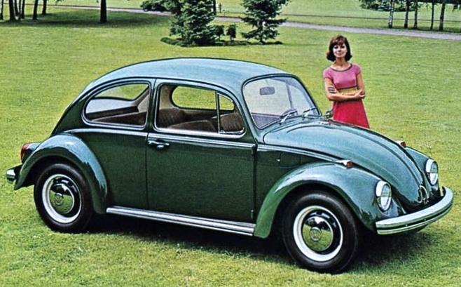 1968 Volkswagen Beetle in Delta Green