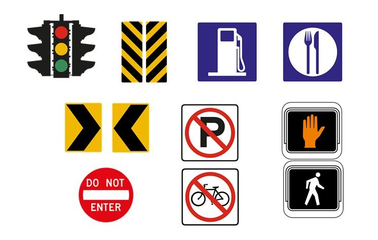 graphics of different road signs