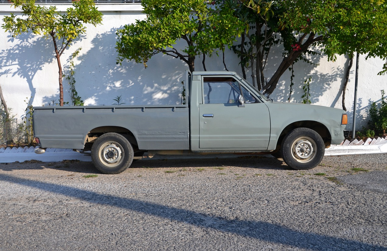 Old pick-up vehicle on the street
