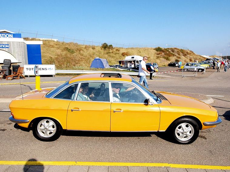 NSU Ro80 with a yellow finish