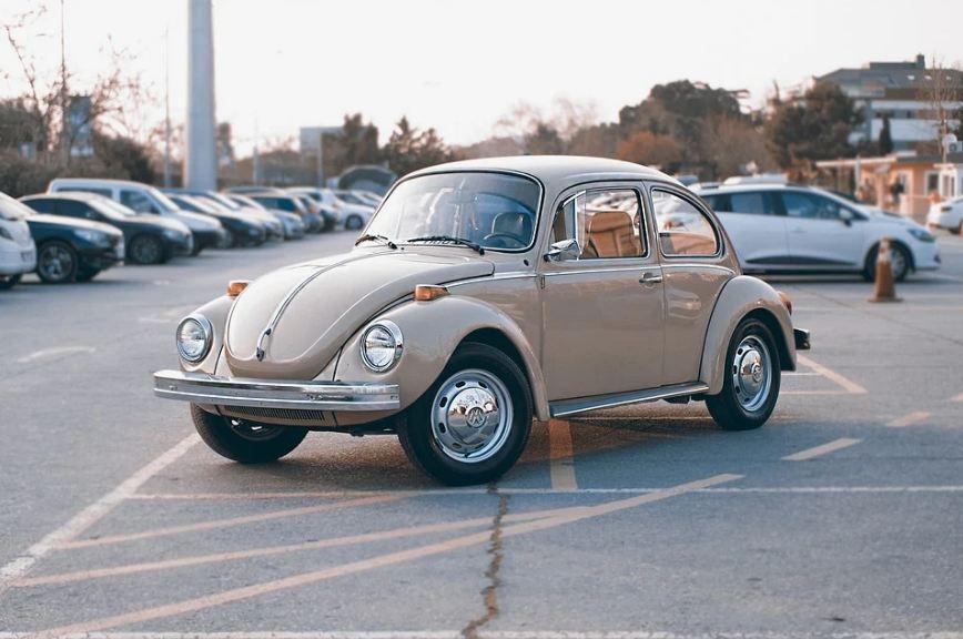 Volkswagen Beetle at a parking lot