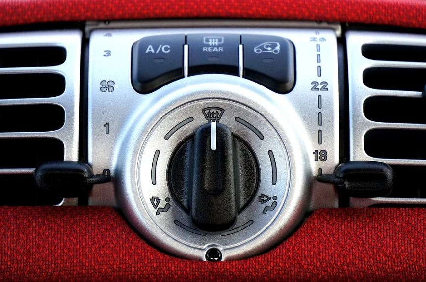 air conditioning controls in a car