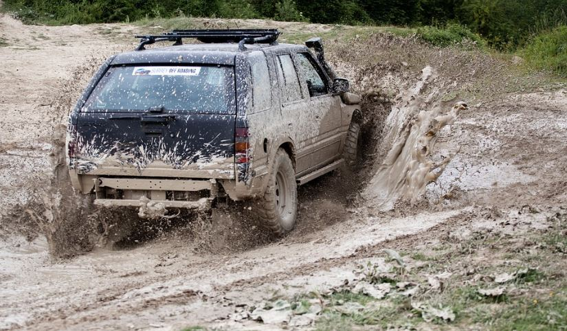driving through the mud